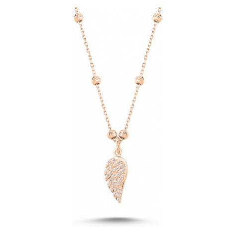 OLIVIE Stříbrný náhrdelník ANDĚLSKÉ KŘÍDLO ROSE 3896
