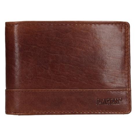 Pánská kožená peněženka Lagen Lorenc - hnědá