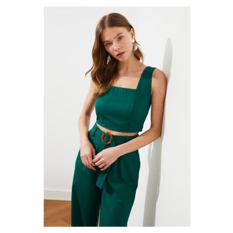 Trendyol Green Square Collar Blouse