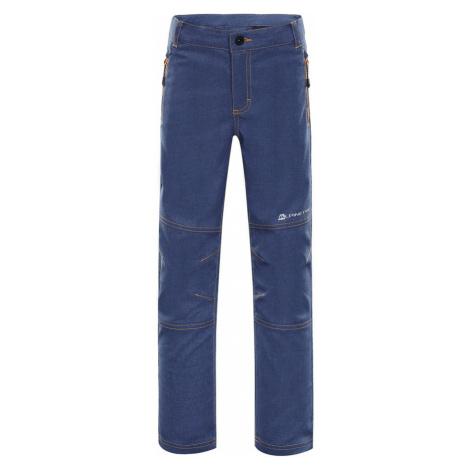 ALPINE PRO PLATAN 3 Dětské softshellové kalhoty KPAN130602 mood indigo