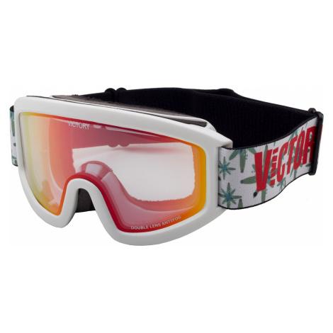 Unisex lyžařské brýle Victory SPV 613 bílá