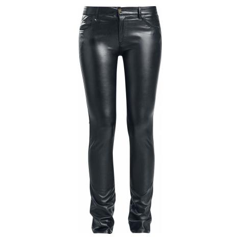 Fashion Victim Kalhoty z umělé kůže Dámské kalhoty černá