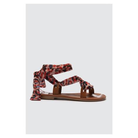 Trendyol Multi Color Genuine Leather Women Sandals