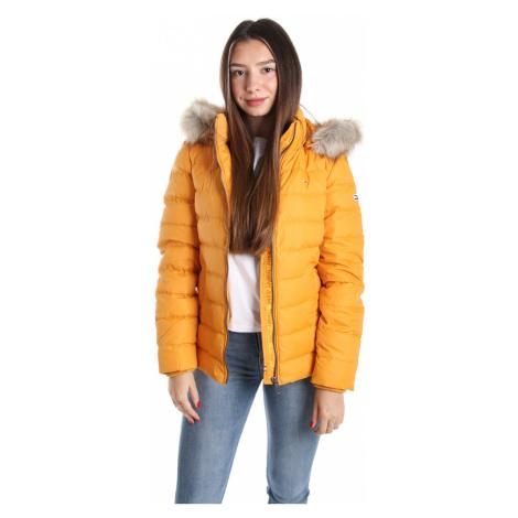 Tommy Hilfiger dámská zimní hořčicová bunda Essential