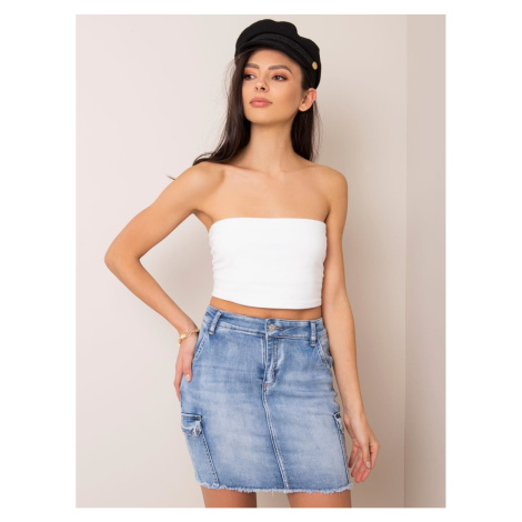 Blue mini skirt with pockets Fashionhunters