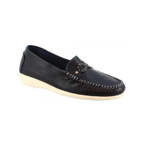 Leonardo Shoes 4754VEN VITELLO BLU Modrá