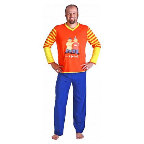 Pánské dlouhé pyžamo Pat a Mat A je to | originál