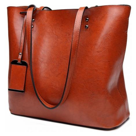Hnědá dámská přehledná kabelka Braslen Lulu Bags