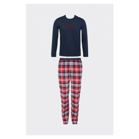 Emporio Armani Underwear Emporio Armani flanelové pyžamo pánské - modrá, červená