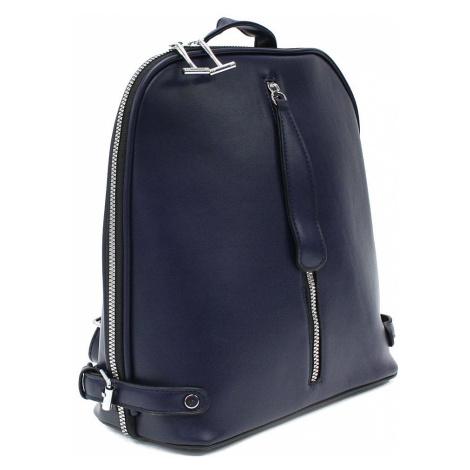 Tmavě modrý zipový městský dámský batoh Chereen Tapple
