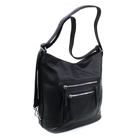 Černá dámská crossbody kabelka a batoh Ascelina Mahel