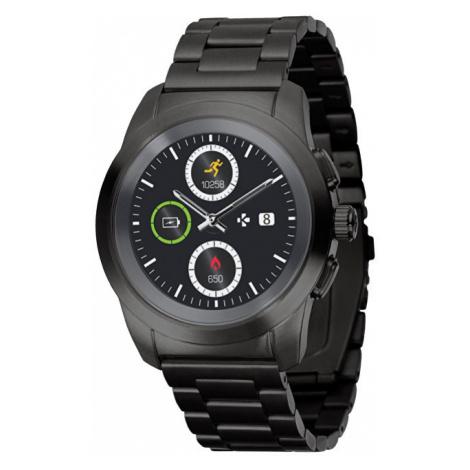 MyKronoz Hybridní hodinky ZeTime Elite Black Metal - mm