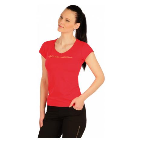 LITEX Tričko dámské s krátkým rukávem J1254306 červená