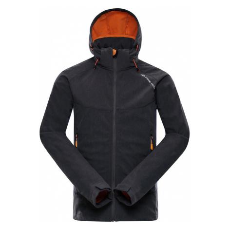 ALPINE PRO NOOTK 3 Pánská softshellová bunda MJCM279779 tmavě šedá