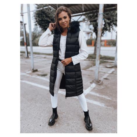Černá dámská dlouhá prošívaná vesta TY2129 BASIC