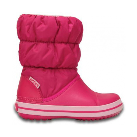 sněhule Crocs Winter Puff boot - candy pink