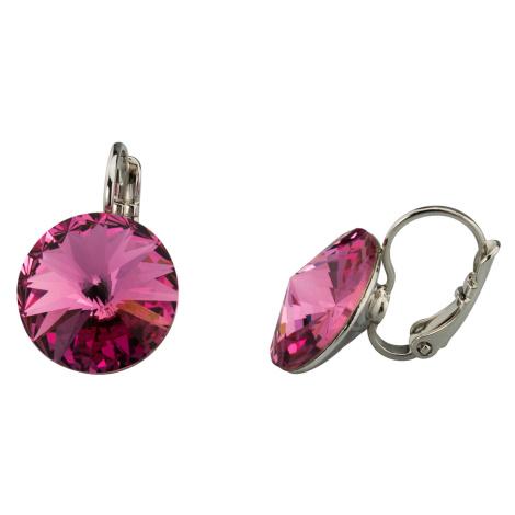 Linda's Jewelry Náušnice Crystal Indian Pink Swarovski Elements IN117