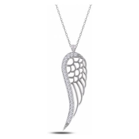 OLIVIE Stříbrný náhrdelník ANDĚLSKÉ KŘÍDLO 2331