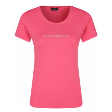 Armani Emporio Armani dámské růžové tričko