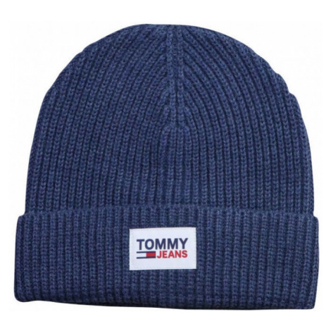 Tommy Hilfiger Tommy Jeans pánská modrá čepice PATCH BEANIE