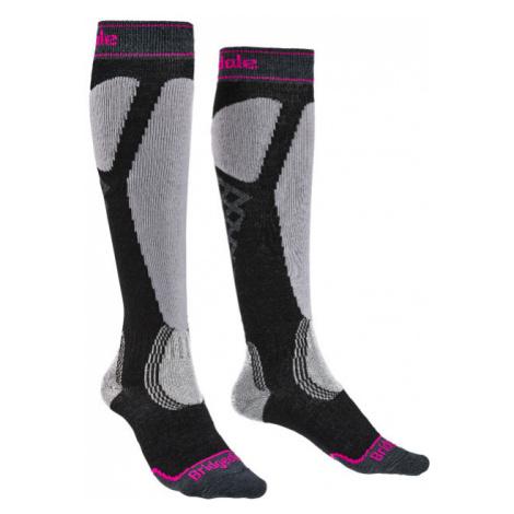Ponožky Bridgedale Ski Easy On Women's graphite/purple/134