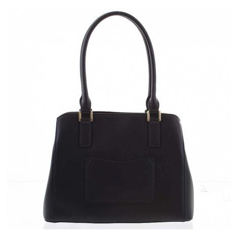 Módní dámská kožená černá kabelka - Hexagona Zotico