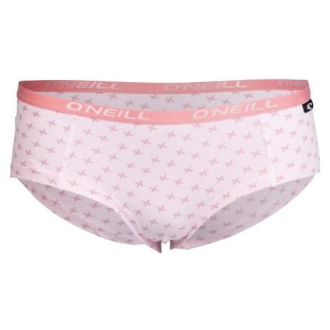 O'Neill HIPSTER WITH DESIGN 2-PACK světle růžová - Dámské spodní kalhotky
