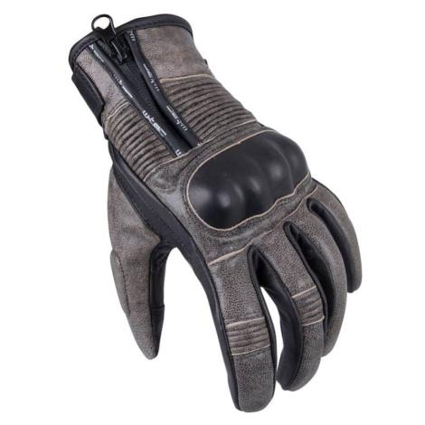 Pánské moto rukavice W-TEC Davili Barva černo-hnědá