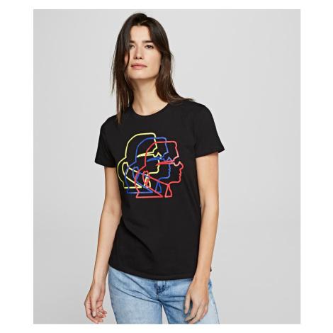 Tričko Karl Lagerfeld Multicolor 3D Karl Profile Tee - Černá