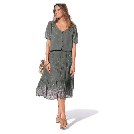 Blancheporte Polodlouhá sukně, potisk bronzová