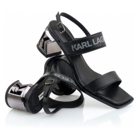 Sandále Karl Lagerfeld K-Blok 2-Strap Open Sandal - Černá