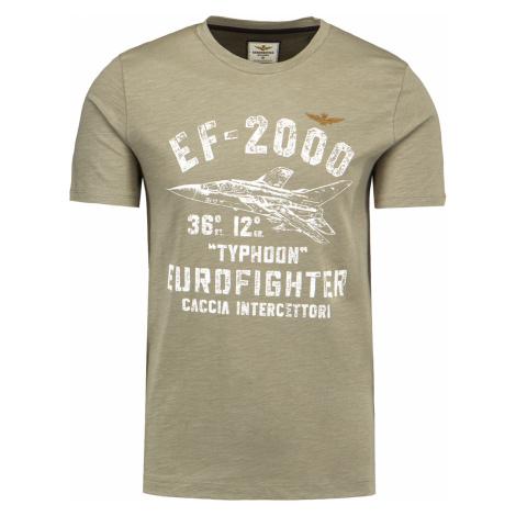 Tričko AERONAUTICA MILITARE vzorkování|zelená
