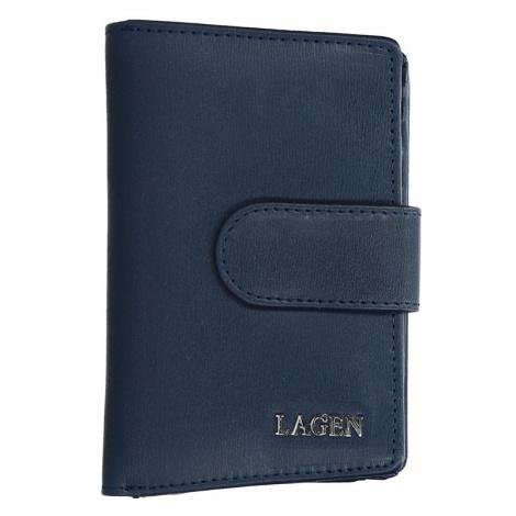 Dámská kožená peněženka Lagen Kamila - tmavě modrá