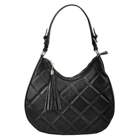 Kožená kabelka přes rameno JUICE 112327 černá