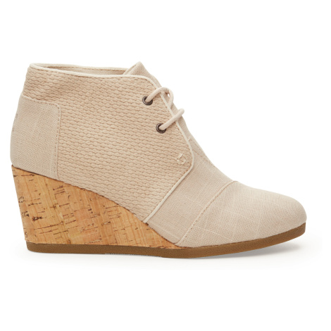 DESERT WEDGE-Whisper Burlap Textured Toms
