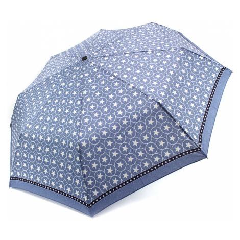 Modrý plně automatický skládací dámský deštník s hvězdou Jimena Doppler