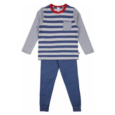 SANETTA Pyžamo červená / šedý melír / námořnická modř Sanetta Kidswear