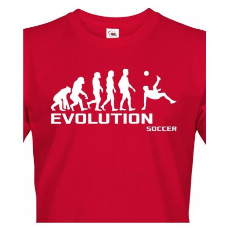 Pánské tričko evoluce fotbalu - ideální dárek pro fotbalistu BezvaTriko