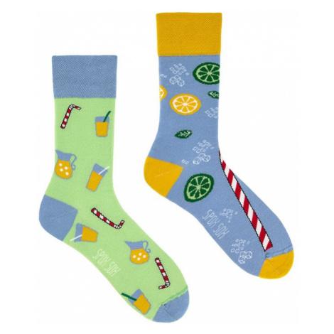 Modro-zelené ponožky Spox Sox Lemonade