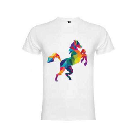 Pánské tričko Premium Kůň z polygonů
