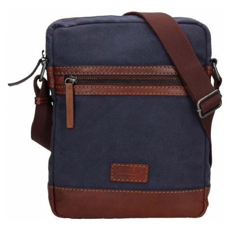 Pánská taška přes rameno Lagen Bill - modro-hnědá