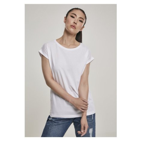 Ladies Organic Extended Shoulder Tee - white Urban Classics