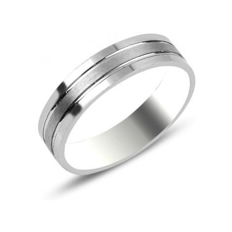 OLIVIE Snubní stříbrný prsten 3720