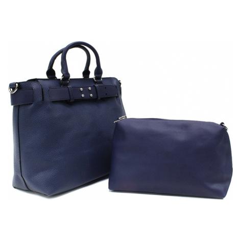 Tmavě modrý dámský elegantní kabelkový set 2v1 Berthe Tapple