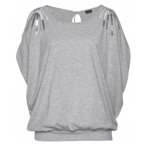LASCANA Tričko šedý melír