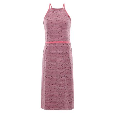 ALPINE PRO GYRA Dámské šaty LSKR221893PB bordeaux