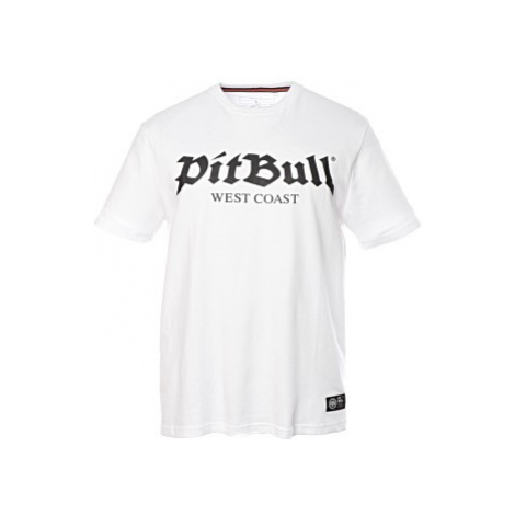 Triko PitBull West Coast Old Logo pánské bílé