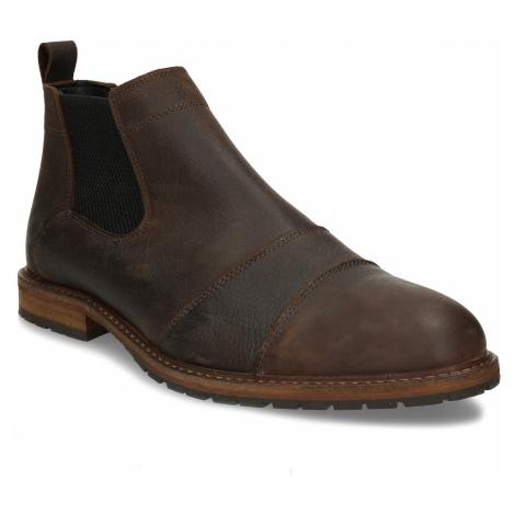 Hnědá pánská kožená Chelsea obuv Baťa