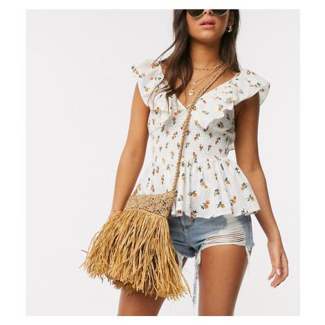 South Beach Exclusive straw cross body bag-Beige