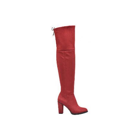 Červené kozačky nad kolena Graceland